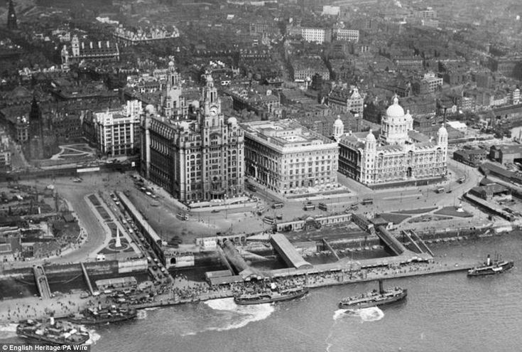Heritage: A July 1920 photograph of George's Stage and the Three Graces in Liverpool is in the collection....which has been nick named The Liver Birds by Liverpudlians :o)