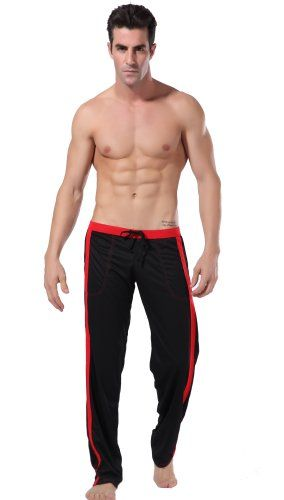 Men's Long Low Rise Mesh Sports Sweatpants Front Tie Rope with Pockets Style 5 Colors. M.29.1.-33.1. L.30.7.-33.5. Black. WANGJING(WJ) has been specialized in manufacturing high quality underwear for more than 8 years,we're committed to provide customers with High Quality goods and services. Material: 100% Quick-drying polyester. Breathable, health and comfortable. Size: Large. Sporting, training or daily wear. Note: Package include 1* fashion pants ONLY, other accessaries...