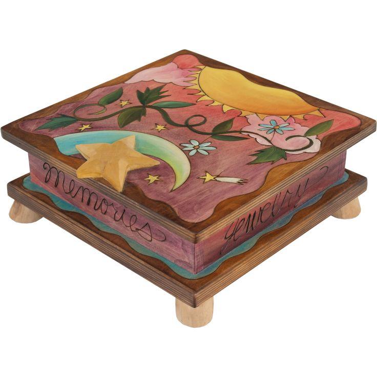Sticks Jewelry Keepsake Box-Box010-S310145, Artistic Artisan Designer Boxes