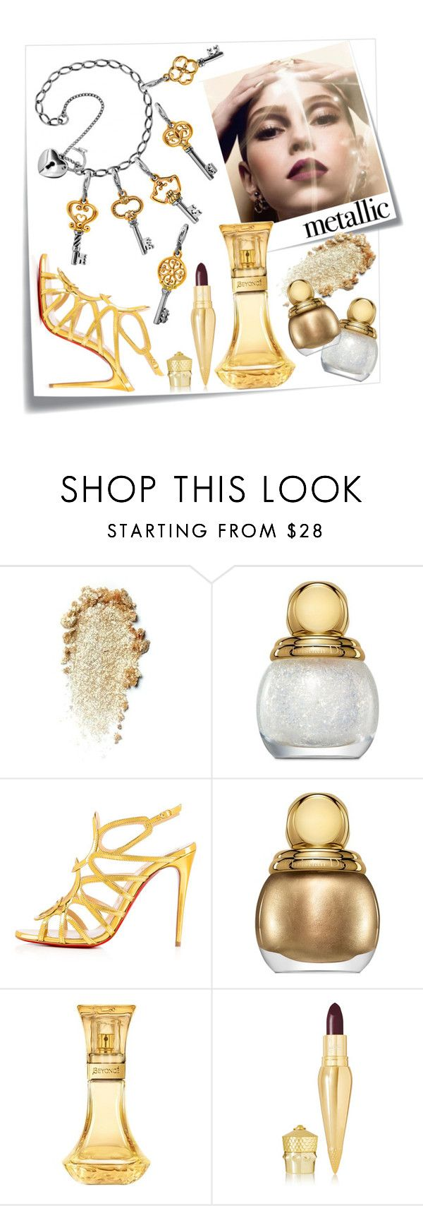 """Silver&gold"" by ledile ❤ liked on Polyvore featuring beauty, Post-It, Christian Dior, Christian Louboutin, Silver, charms, ledile and charmsbracelets"