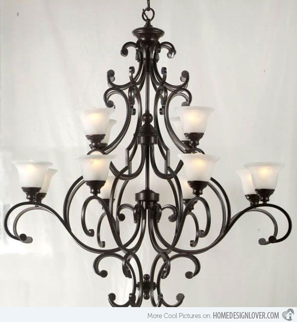 20 Wrought Iron Chandeliers | Home Design Lover
