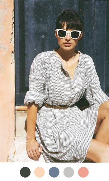 Repin Via: Anne Sage  #Spring: Summer Dresses, Shirtdress, Summer Looks, Fashion Style, Clothing, Shirts Dresses, The Dresses, Sunglasses, Belts