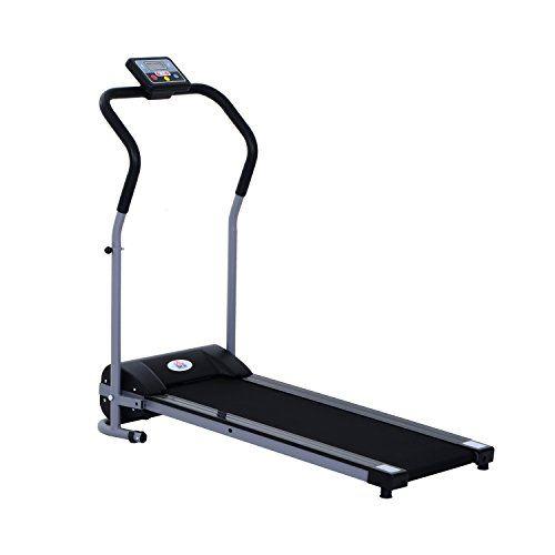 Tapis de course électrique tapis roulant automatique pliable écran LCD équipement de sport fitness 120L x 59l x 113H cm noir gris neuf 56:…