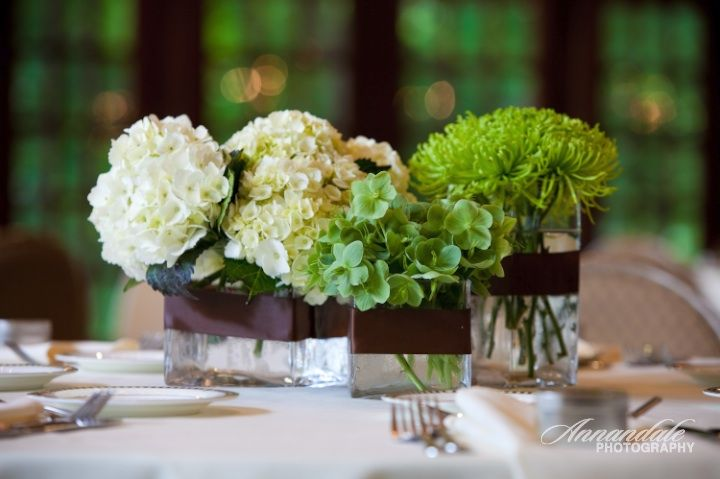 Masculine white floral arrangements nautical theme