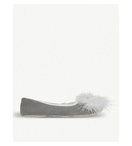 THE WHITE COMPANY | Feather pom-pom ballet slippers #Shoes #Flats #Slippers #THE WHITE COMPANY