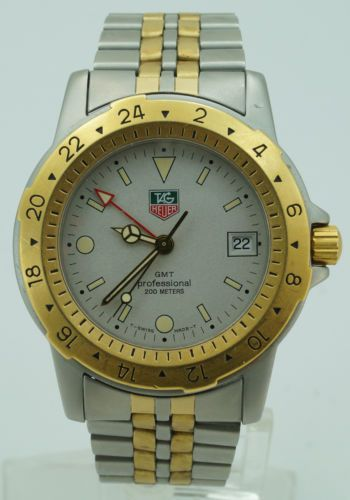 mens tag heuer gmt professional 200m ss two tone swiss watch 40mm to be tag heuer. Black Bedroom Furniture Sets. Home Design Ideas
