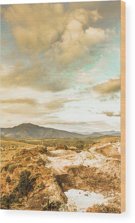 Tasmania Wood Print featuring the photograph Mountainous Tasmania Scenery by Jorgo Photography - Wall Art Gallery