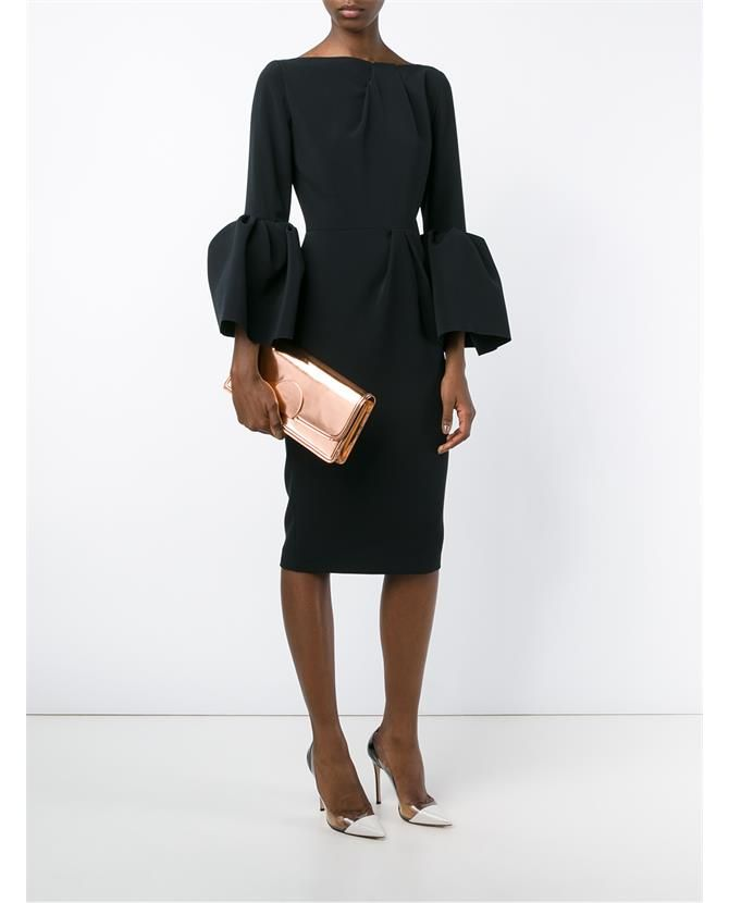 ROKSANDA Margot Long Sleeve Crepe Dress