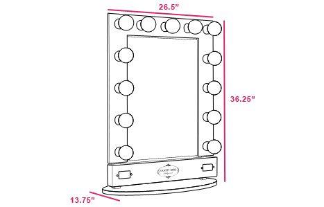 lighted vanity mirror vanity mirrors broadway vanities bombshell. Black Bedroom Furniture Sets. Home Design Ideas