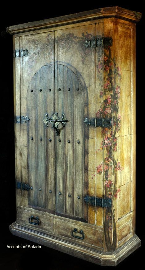 Do you love bougainvillea? Then you'll love this hacienda cabinet laden with…