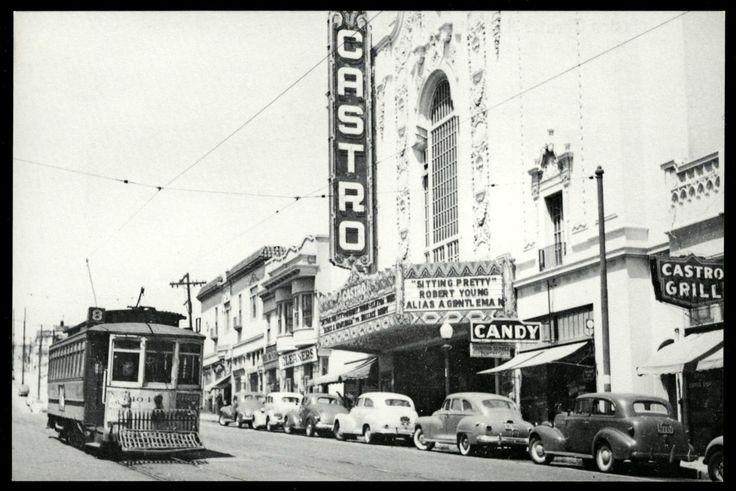 1947 Market St Railway Streetcar San Francisco Castro Theater New 1980 Postcard | eBay