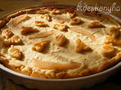 Az én édes konyhám: Ricottás - körtés pite