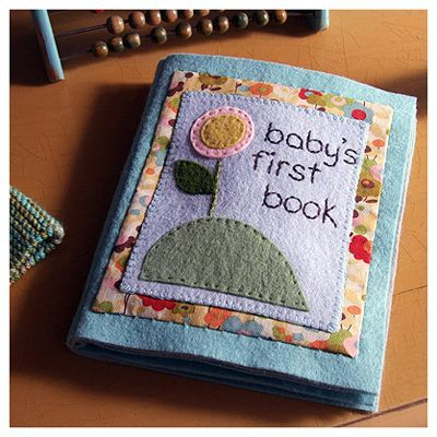 If only I had the time, this embroidered baby book is gorgeous!