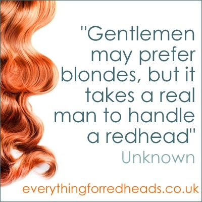 a real man...redhead quote - Click image to find more Illustrations & Posters Pinterest pins