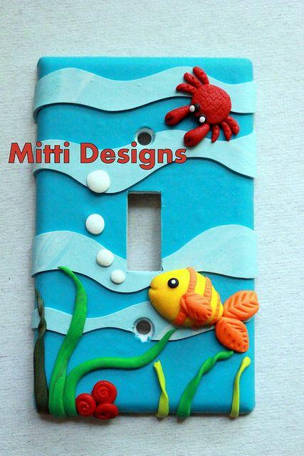 aqua - switch plate cover - Mitti Designs