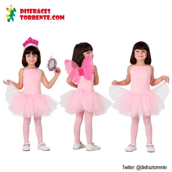 disfraces de bailarina de ballet o danza en color rosa precioso adele unas alas y