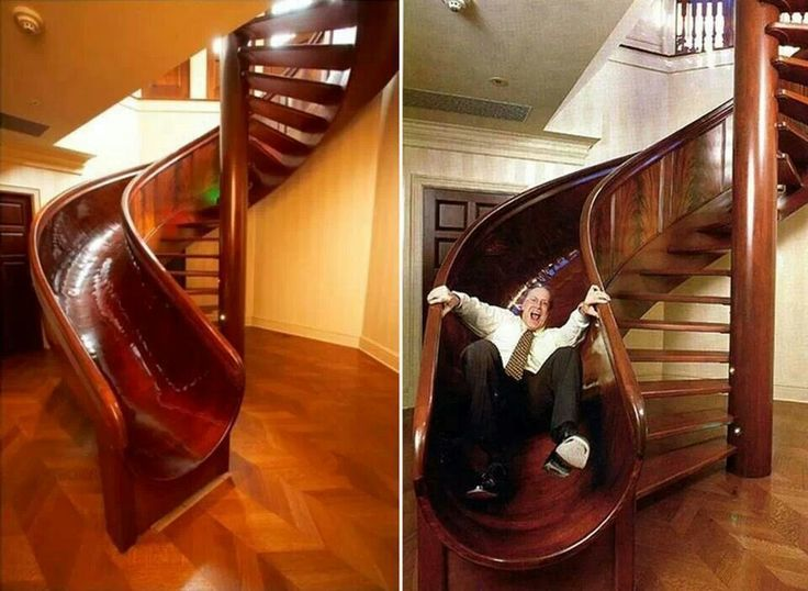 Late in the morning? Take the slide instead of the stairs.