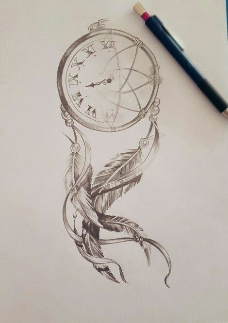 Like the idea, but the placement of the numbers seems to be off. And I don't know that I'd use Roman numerals on a dream catcher..