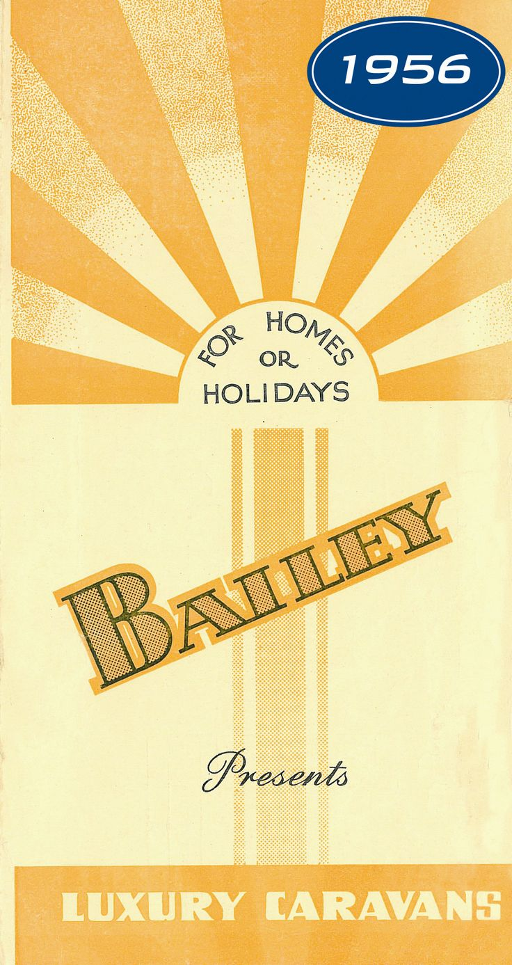 Front cover of a 1956 Bailey brochure