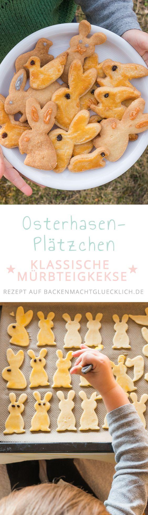 Tolles Rezept für Osterhasen-Plätzchen, das sich auch wunderbar für Kinder eignet. Mit diesem einfachen Mürbeteig macht Osterhasen-Selberbacken Spaß!