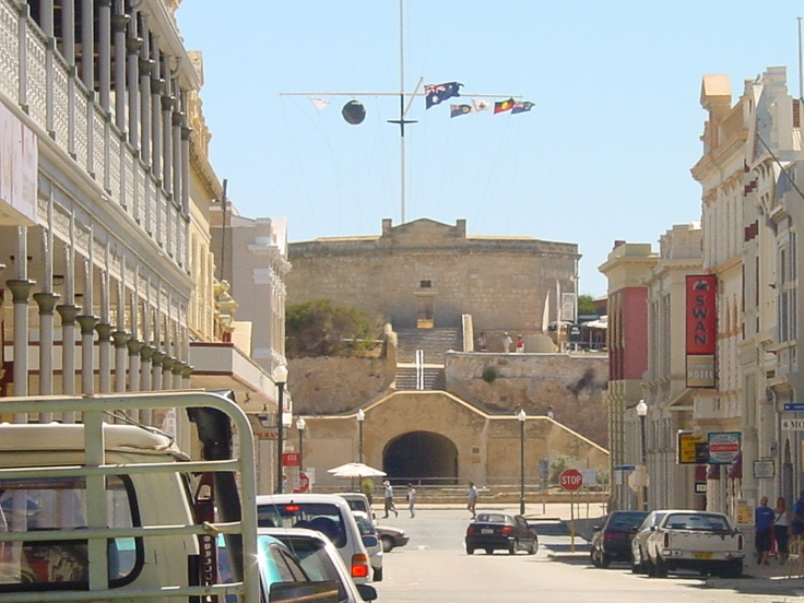Perth, Western Australia.   Daytime street view of the round house prison.