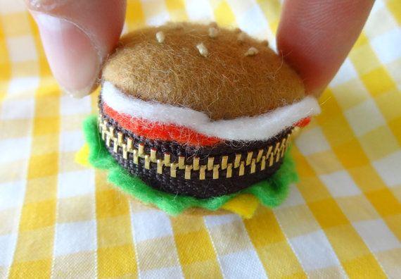 Felt Hamburger shaped Macaron coin purse by chiztom on Etsy, €10.00