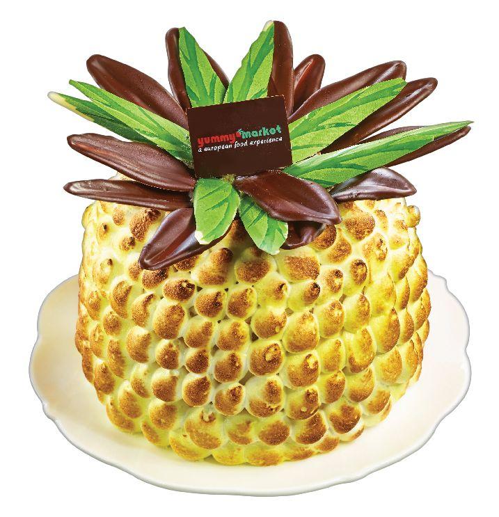 Ananas Sponge Cake - Fluffy Sponge with Pineapple Slices, Coconut & Lemon Cream from #YummyMarket