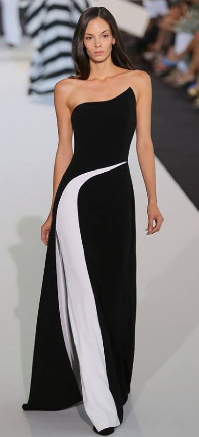Best 25  Black and white gowns ideas on Pinterest | Black and ...
