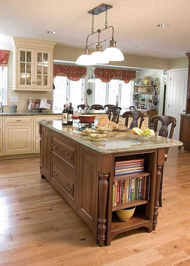 Center island kitchens tables pinterest for Kitchen with centre island