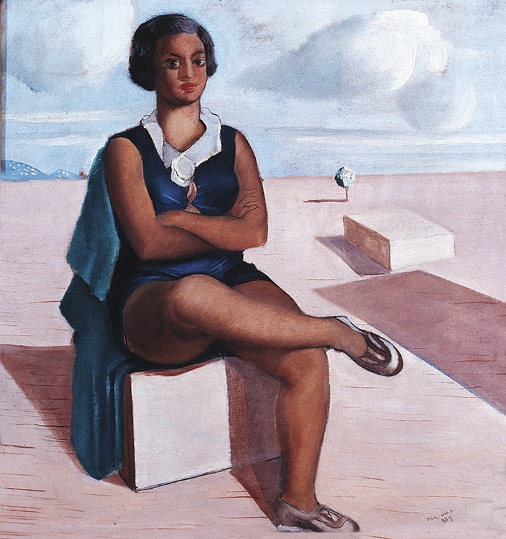 Bather(1934) - Oil on Canvas - Candido Portinari.