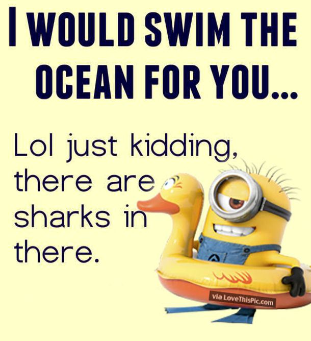 Here we have 25 amazing love quotes with everyone's favorite minion characters. These minion love quote images are adorable and we can all relate to these message from our favorite minions. Feel free to share them on your profiles!