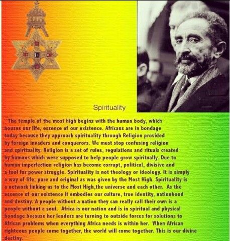 Spirituality - Rastafari