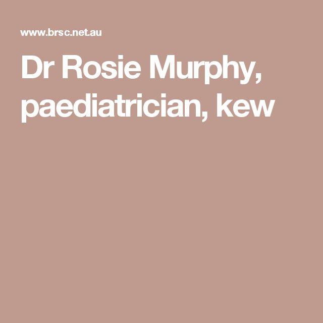 dr rosie murphy paediatrician kew baby stuff. Black Bedroom Furniture Sets. Home Design Ideas