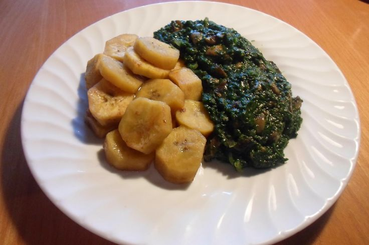 Cameroonian Fried Spinach.