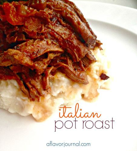 Crockpot Italian pot roast!  This is a great Sunday dinner recipe.  Succulent arm roast cooks in a beautiful blend of flavors all day, so easy and ready for you tonight! | a flavor journal.