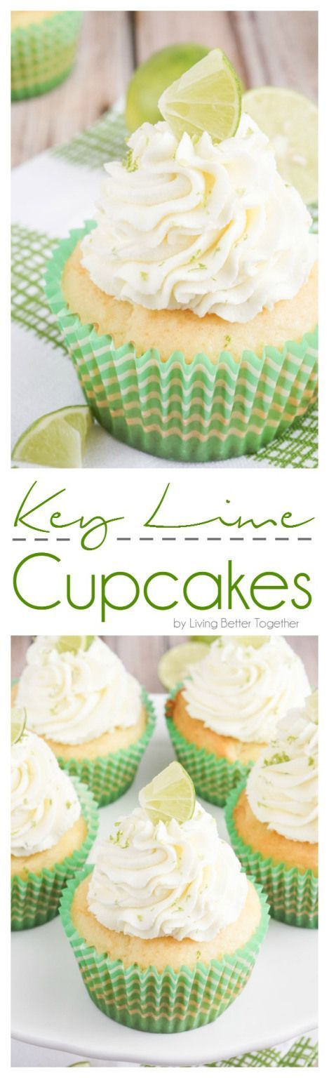 These Key Lime Pie Cupcakes are light and fluffy, filled with sweet key lime curd and topped with a whipped vanilla lime frosting! (Summer Baking Lime Cheesecake)