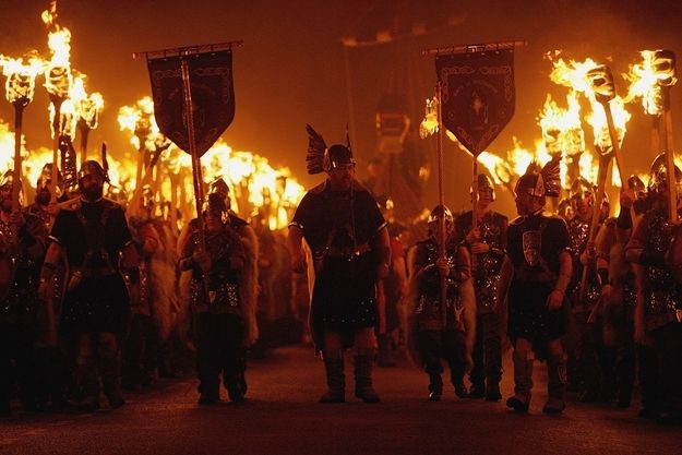 Up Helly Aa Fire Festival — Lerwick, Scotland, This is Europe's largest fire festival, complete with the burning of a full-scale Viking ship...