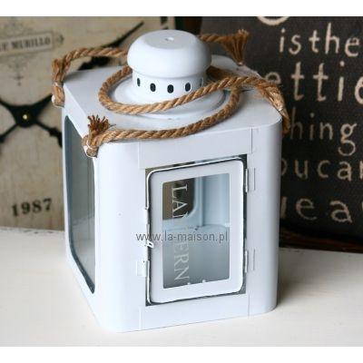 Biały Lampion Lantern