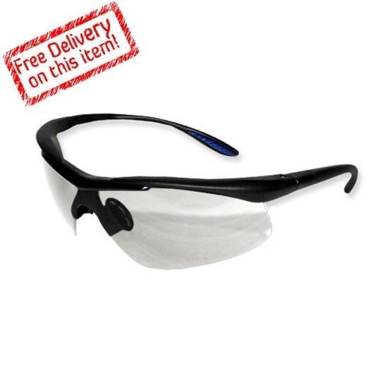 Comfort Safety Eyewear Clear Lens Black Frame Glasses Goggles Free US Shipping #Proworks