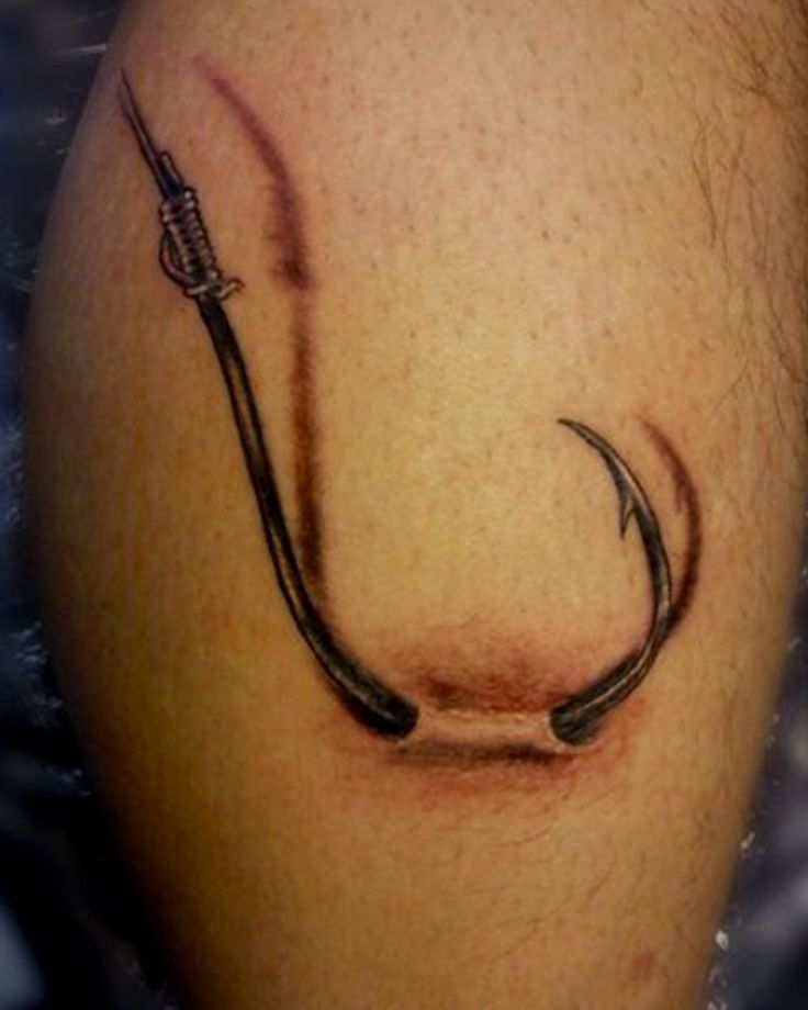 17 Best ideas about Fish Hook Tattoos on Pinterest | Hook ... - photo#16