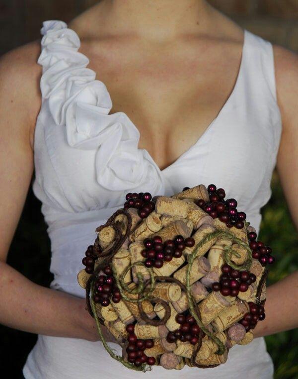 When #wine lovers get married...a #DIY cork bouquet is a must.