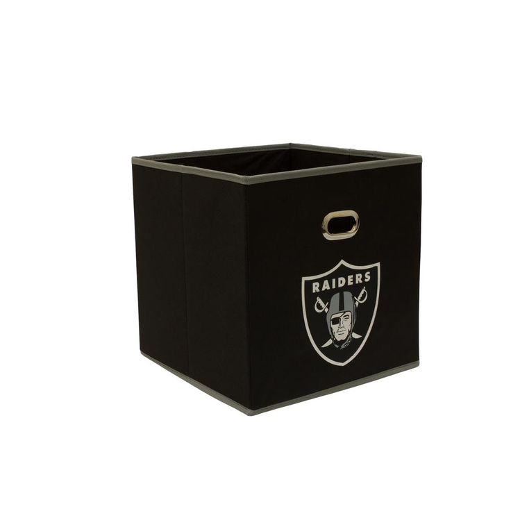 Oakland Raiders NFL Store-Its 10-1/2 in. W x 10-1/2 in. H x 11 in. D Black Fabric Drawer, Oakland Raiders/Black