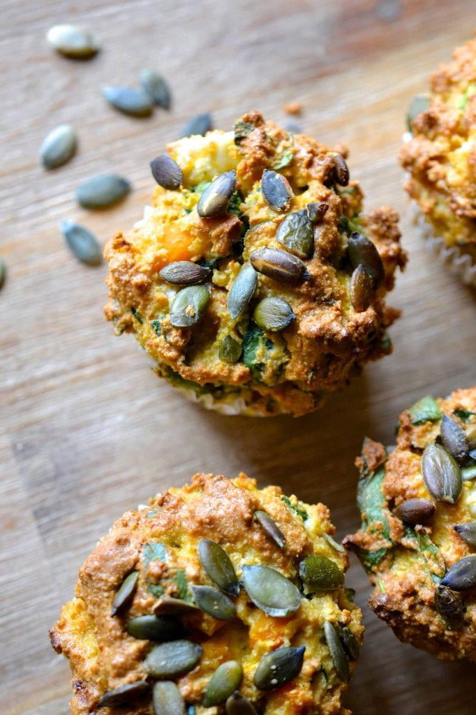 Butternut Squash, Spinach and Feta Muffins   #justeatrealfood #everylastbite
