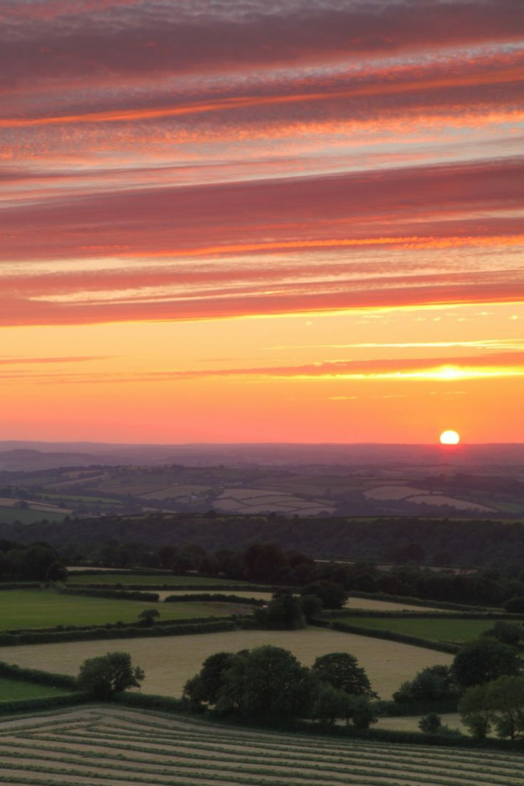 Sunset - West Devon, England  - Explore the World with Travel Nerd Nici, one Country at a Time. http://travelnerdnici.com
