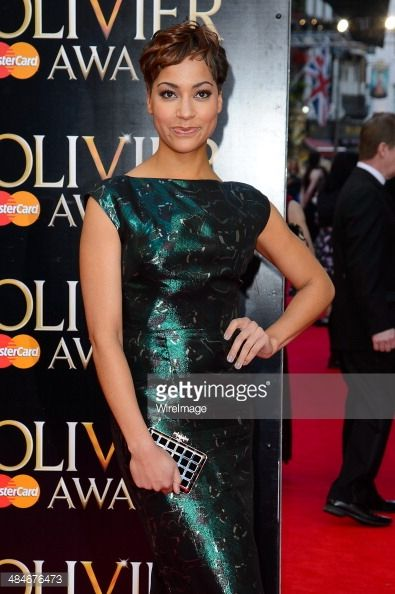 Cush Jumbo attends the Laurence Olivier Awards at The Royal Opera House on April 13, 2014 in London, England.
