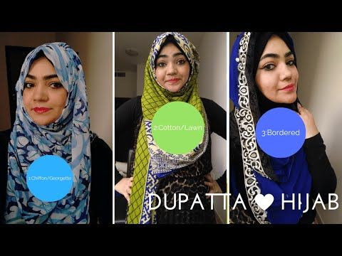 How to tie Hijab On Indian Dress with Dupatta-Part 1 - YouTube