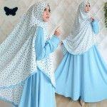 Baju Muslim Cute Butterfly Khimar Crepe