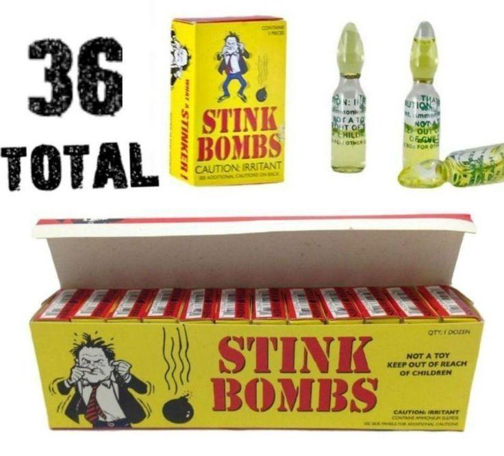 (36) Stink Bombs - Stinky Glass Gag Prank Fart Joke (1 case of 36) Free Shipping #Unbranded