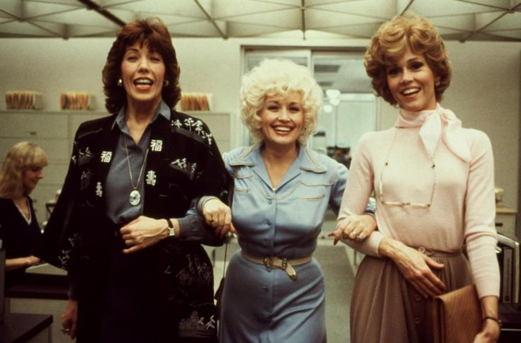 Lily Tomlin, Dolly Parton, and Jane Fonda in 9 to 5 (1980)