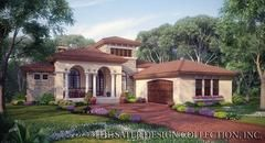 The Mercato is a small, luxury Mediterranean home plan. The house plan features 2192 square feet of living area, three bedrooms and two and a 1/2 bathrooms.